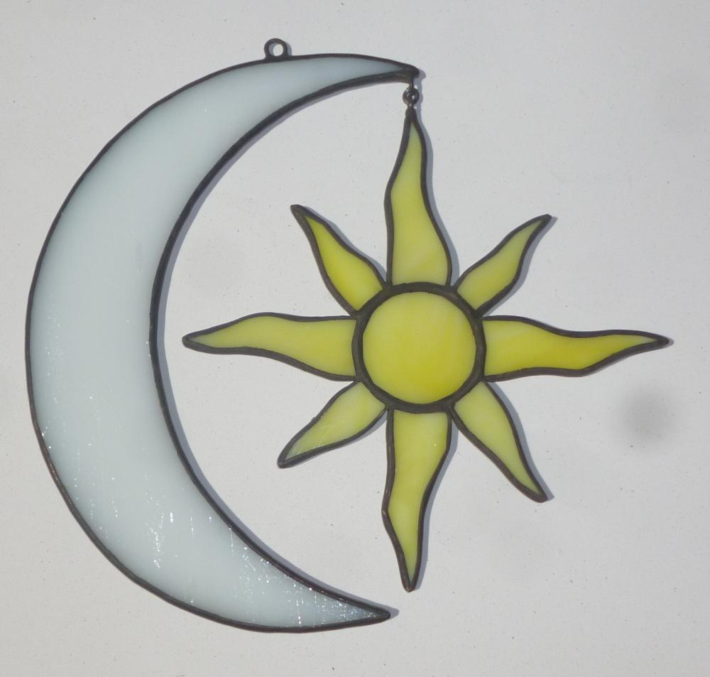 Belize Stained Glass Sun and Moon