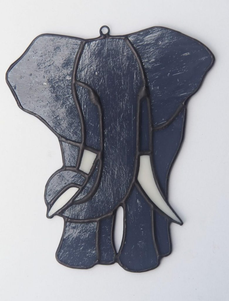 Belize Stained Glass Elephant