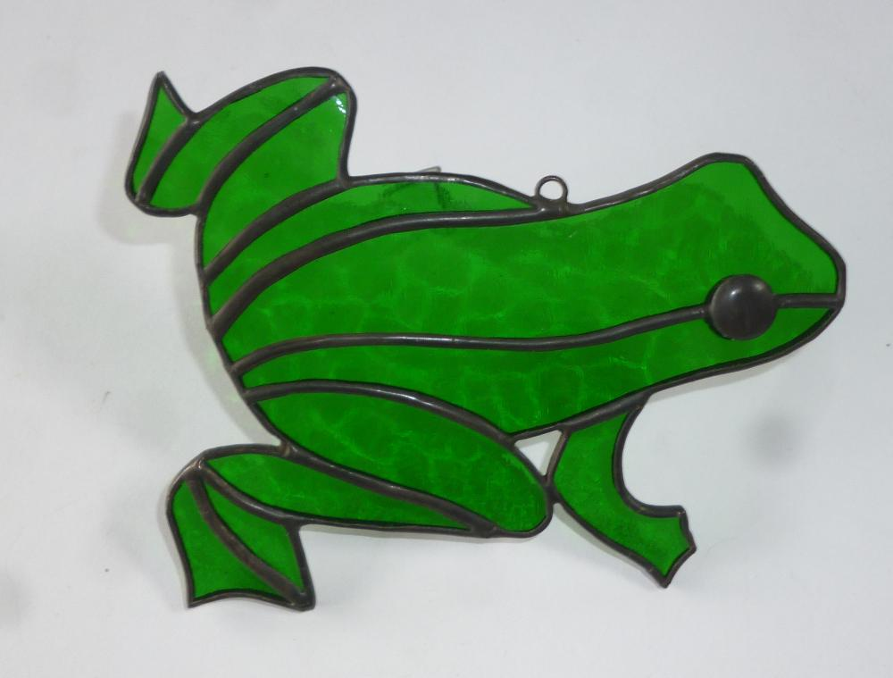 Belize Stained Glass Green Frog