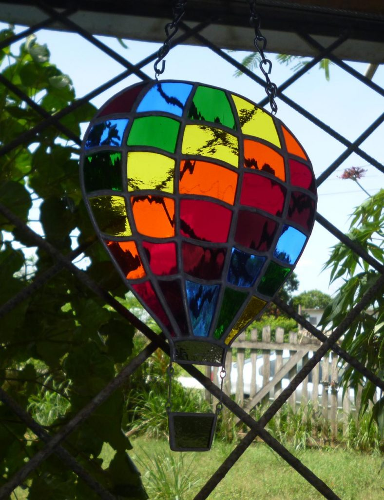 Belize Stained Glass Hot Air Baloon